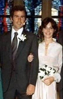 George W Barbara Bushs Wedding Picture