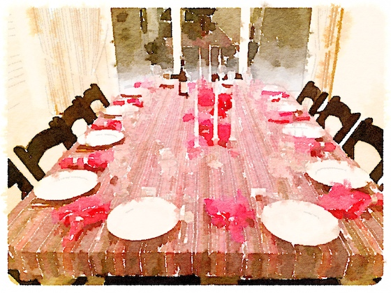 Valentine Supper Club Tablescape