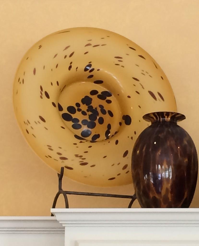 Decorative Animal Print Glass