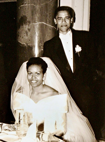 Barack and Michelle Obama's Wedding Picture