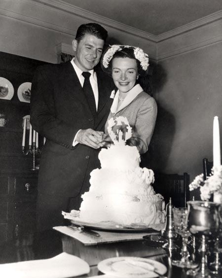 Ronald and Nancy Reagan's Wedding Picture