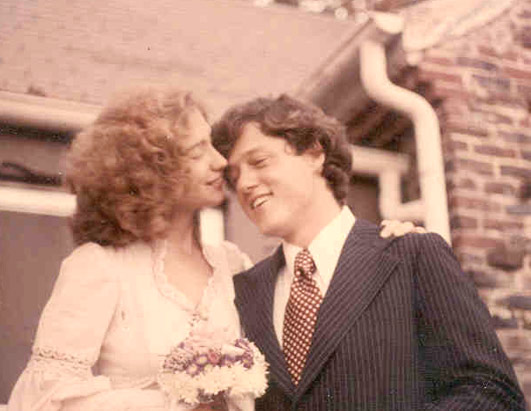 Bill & Hillary Clintons Wedding Picture