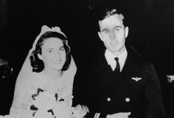 George & Barbara Bush's Wedding Picture