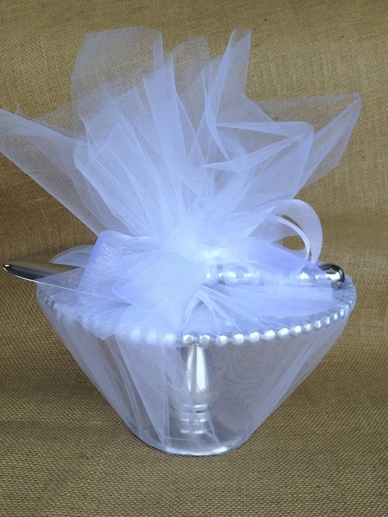 Wedding Gift Wrapped in Tulle
