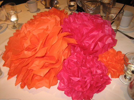 Leave tissue paper pompoms in the accordian shape until you arrive at the party | OMG Lifestyle Blog