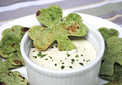Tortilla Chips in shape of Shamrock