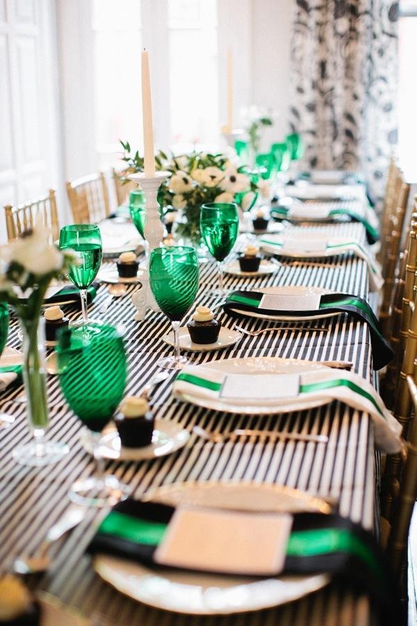 St. Patrick's Day Elegant Tablescape