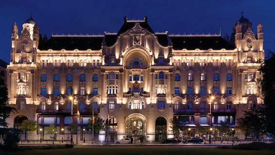 Exterior of Four Seasons Gresham Palace in Budapest