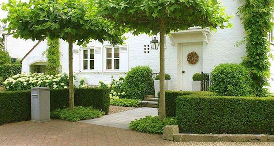 painted white brick house