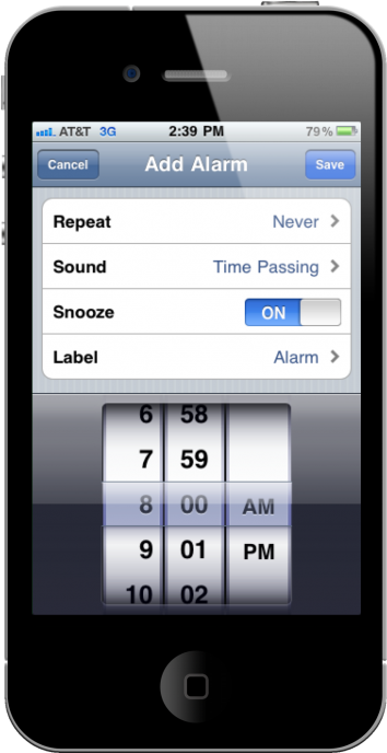 use Iphone as alarm