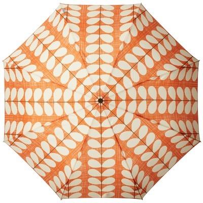 orange and cream umbrella