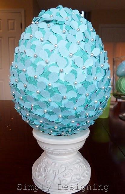 Paper Floral Easter Egg