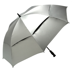 oversized silver umbrella for wedding day