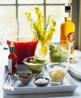 Bloody Mary Tray for Brunch