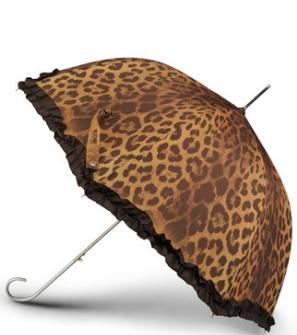 leopard ruffled umbrella