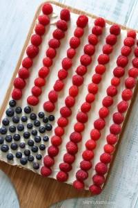Flag Berry Cake