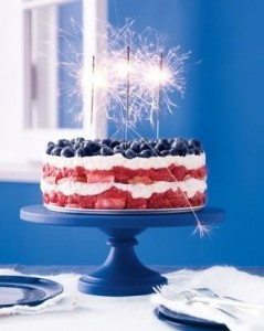 Sparkler Cake for Fourth of July