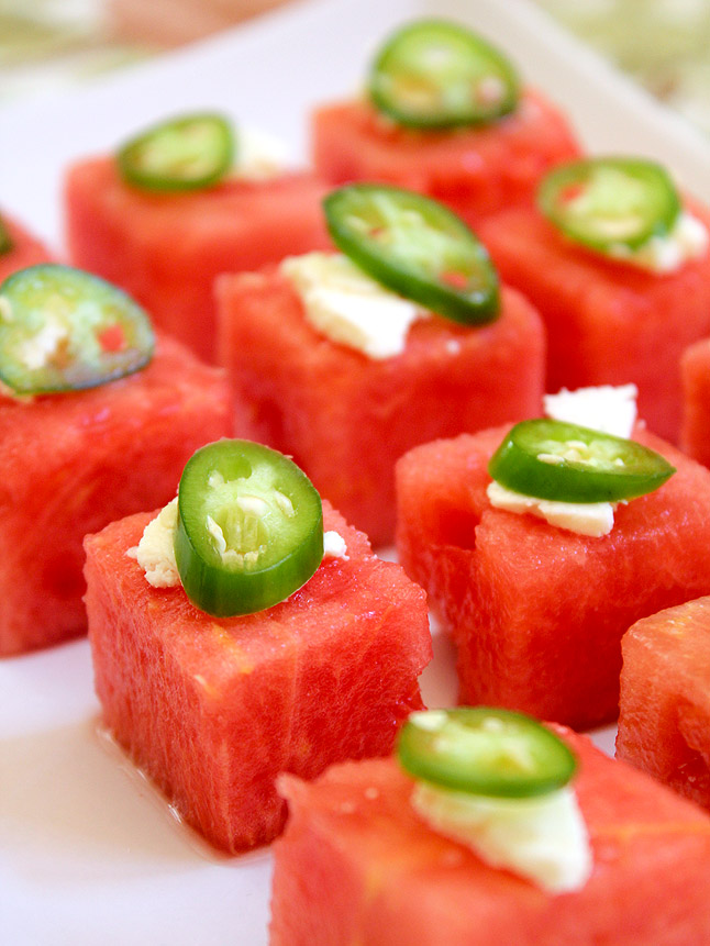 watermelon jalapeno squares