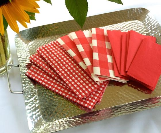 Red & White Checkered Napkisn