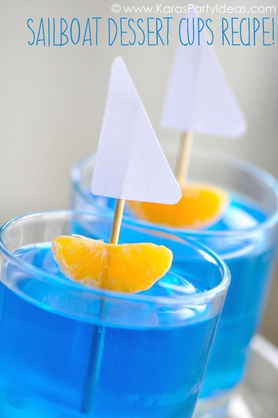 sailboat jello cups