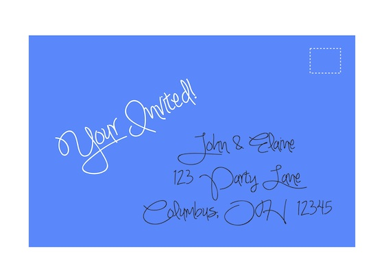 Sample Invitation Envelope
