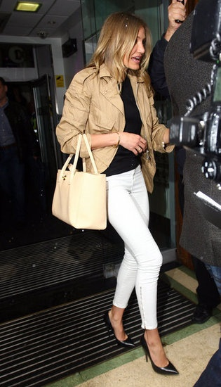 White Jeans with Black & Camel