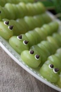 grape caterpillar kabobs