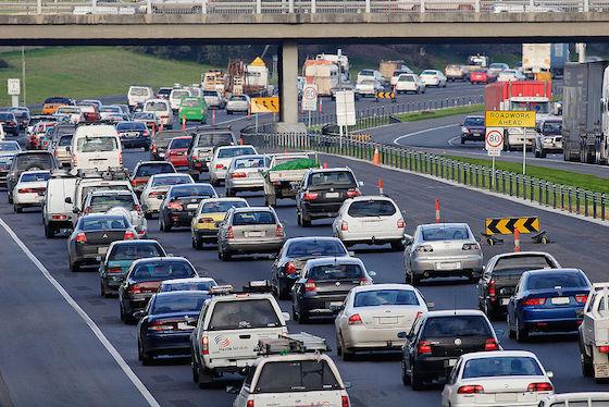 photo of freeway traffic
