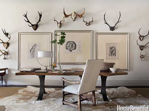 Dining Room Table Desk Via House Beautiful