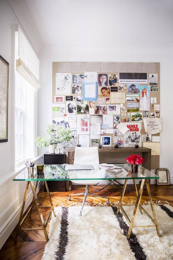 Home Office with Inspiration Board