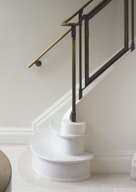 Glass And Brass Stair Rail