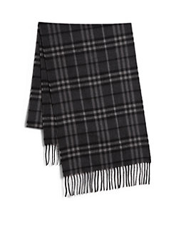 Men's Black Plaid Scarf