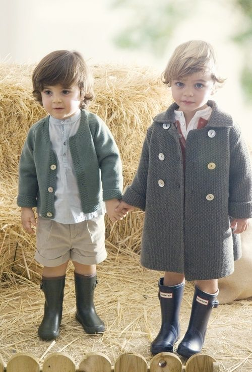A collection of cute kids in Autumn scenes - - these little boys are so adorable.  Love them in their boots!