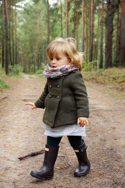 A collection of cute kids in Autumn scenes.  This girl is adorable all bundled up for fall.  Such a fashionista!