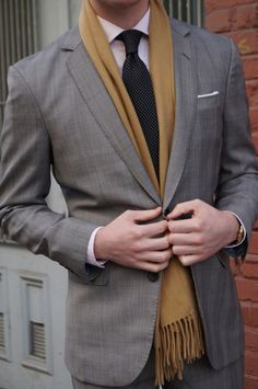 Mens Suite with a Scarf