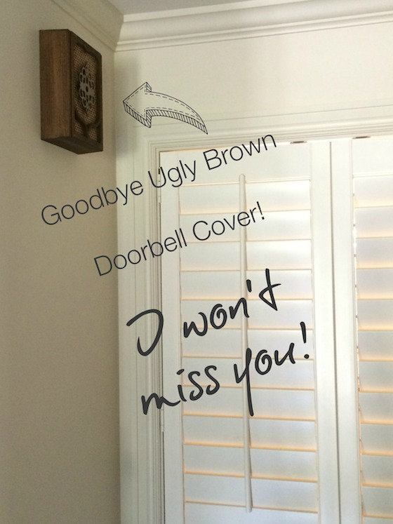 Charming One Room Challenge Brown Doorbell Cover