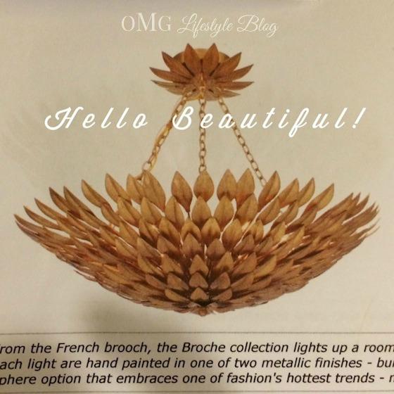 French Brooch Gold Leaf Chandelier