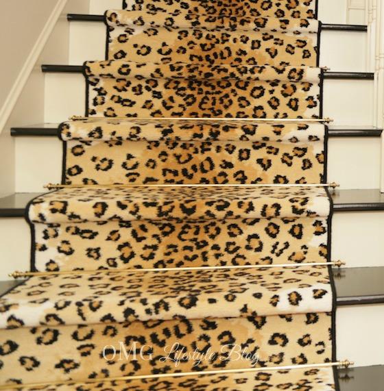 One room challenge final reveal of foyer week 6 for Leopard print carpet stair runner