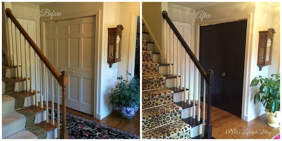 Before & After Stairs and Foyer Closet