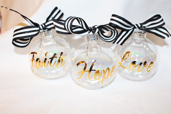 Gold Stenciled Ornaments
