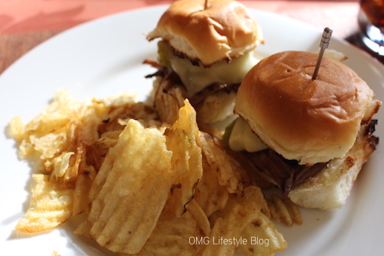 Peperoncini Pot Roast Melts with Potato Chips