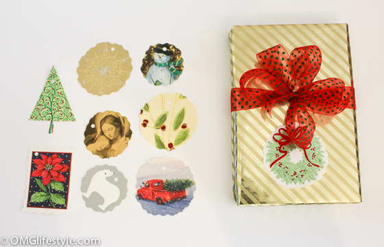Recycle Christmas Cards into Next Year's Gift Tags