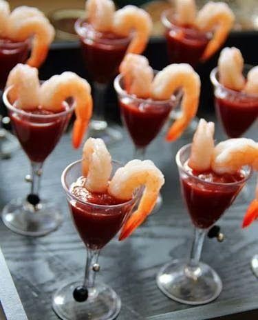 Heart Shaped Shrimp Cocktail