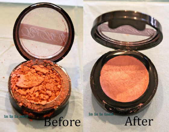 How to repair broken pressed poweder makeup