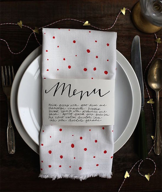 Valentine's Day Party Menu - such a nice touch for a party. Read the post for more Valentine's Day Party Decorations