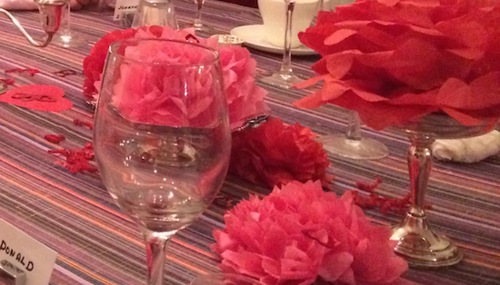 Pink and Red Tissue Paper Pom Poms for Valentine's Day Party Centerpiece