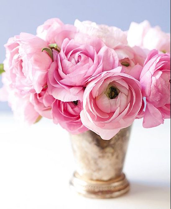 Pink Rananculus Floral Arrangement
