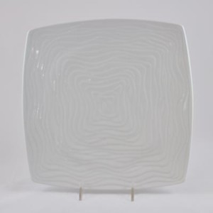 Textured White Ceramic Platter