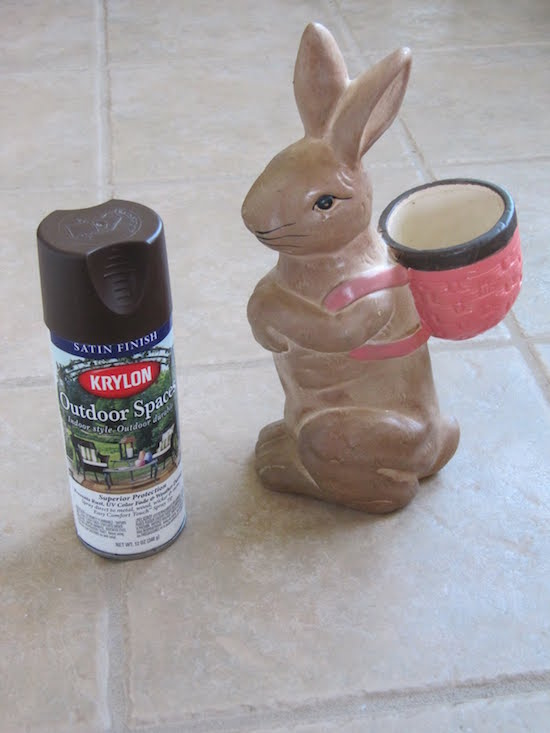 Ceramic Bunny Painted to Look Like Chocolate