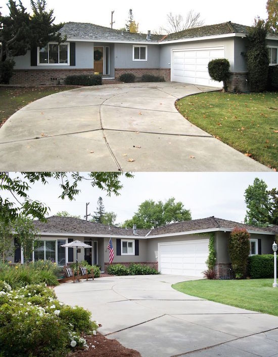 Small Front Yard Landscaping Before And After : Curb appeal stunning before after home updates